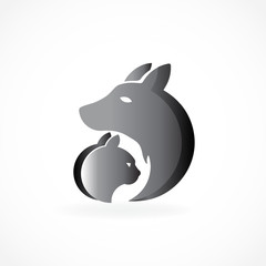 Logo dog and cat vector image