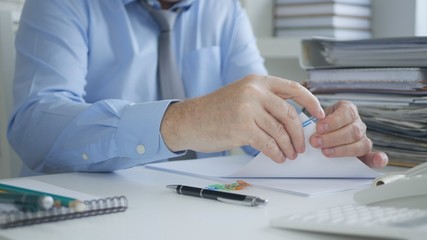 Businessman Image Archiving Accounting Documents