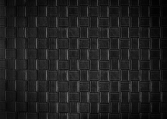 Abstract background from black leather pattern on sofa. Retro and vintage background.