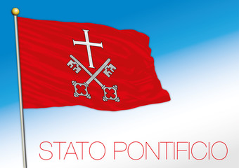 Papal state, historical flag, Italy