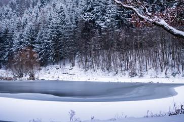 Snowy winter landscape near Brno, Czech Republic, Europe