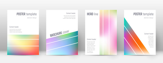 Flyer layout. Geometric fascinating template for Brochure, Annual Report, Magazine, Poster, Corporate Presentation, Portfolio, Flyer. Alive bright cover page.