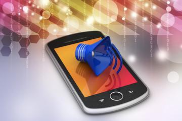 Megaphone with smart phone