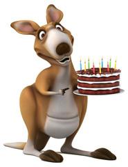 Fun kangaroo - 3D Illustration