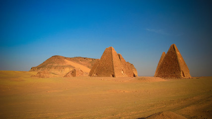 Jebel Barkal mountain and Pyramids, Karima Nubia, Sudan