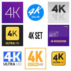 4K label set