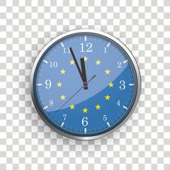 Clock EU Flag Transparent