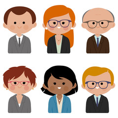 A group of business people. Vector illustration