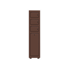 Deposit box, protection of personal information, safety business box, values secure protection concept vector Illustration