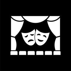 Black Theater icon on dark background