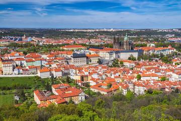 Prague Castle and Saint Vitus Cathedral, Czech Republic. Panoramic view