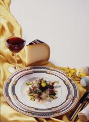 Käse Wein Salat Ostern essen