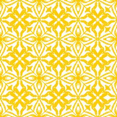Seamless ikat pattern in yellow