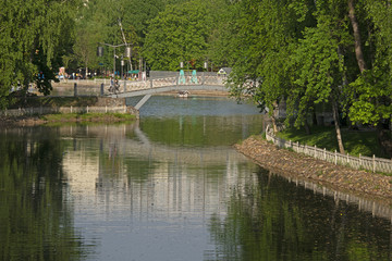 The Lianozovsky park of Moscow - the end of spring.
