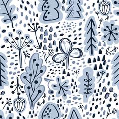 Scandinavian seamless vector pattern