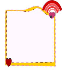 Colorful frame, pastel border, green,  heart shape, background image, add color to any page with borders, these colorful borders and backgrounds. For students and schools;