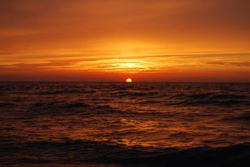 zachód słońca na morzem 3