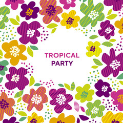 Abstract tropical color floral pattern.