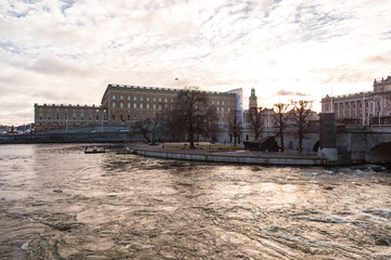 stockholm city scape, palace