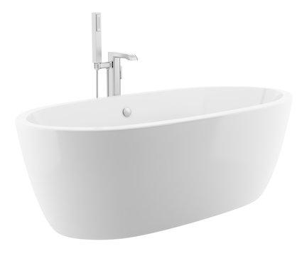 modern bathtub isolated on white background