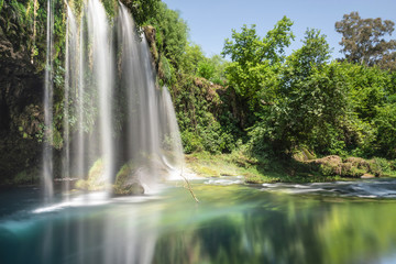 famous waterfall of the antalya area, the waterfall
