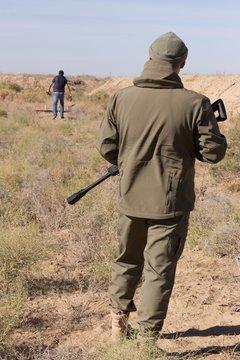Shooting at desert