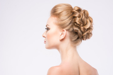 girl with a beautiful hairdress
