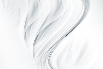 Abstract background with smooth white waves.