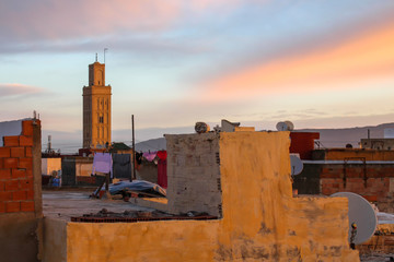 Early morning roofs of Meknes, Morocco