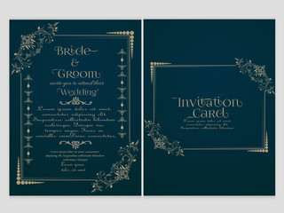 nice and beautiful abstract or poster or Invitation card template for Wedding with nice and creative design illustration.