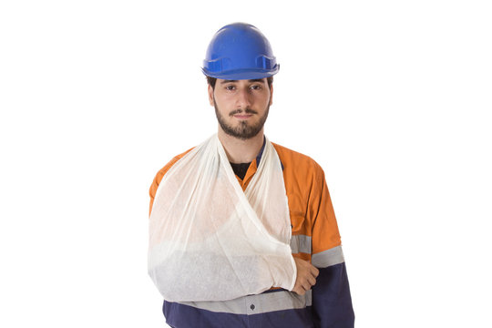 A young man with a work related injury.