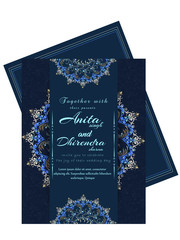 nice and beautiful abstract or poster or invitation templates for Wedding with nice and creative design illustration.
