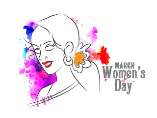 nice and beautiful abstract or poster for Women's Day with nice and creative design illustration.
