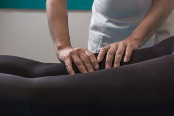 Alternative therapy body treatment.