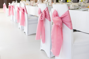wedding chair with ribbon