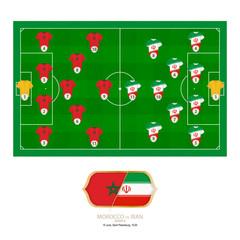 Football match Morocco versus Iran.