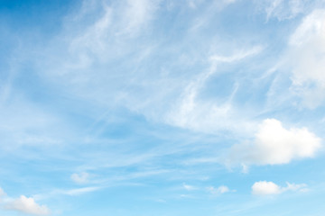 Blue sky white cloud white background
