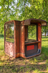 Abandoned Fast Food Red Kiosk from Serbia