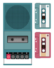 Vintage Cassette and Recorder