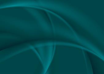 Dark turquoise smooth soft wavy background