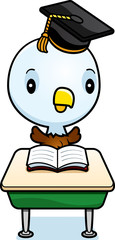 Cartoon Baby Eagle Student
