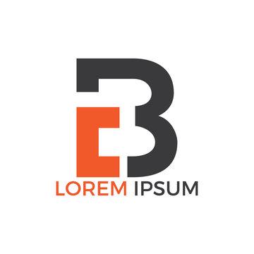CB letter logo design vector illustration. Creative Letter LB letter logo