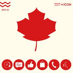 Maple leaf icon