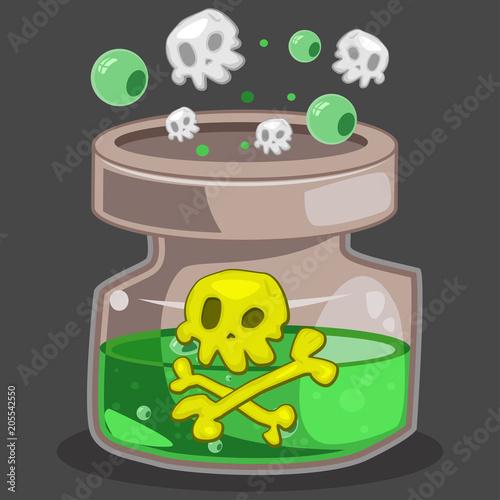 poison bottle game icon vector cartoon illustration isolated on