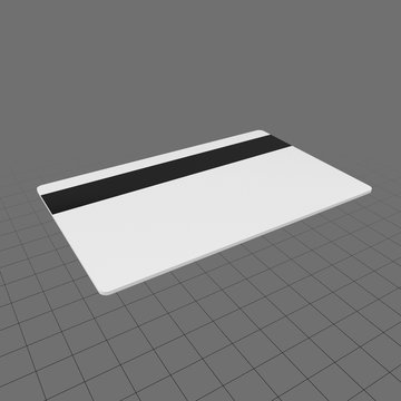 Blank card with magnetic strip