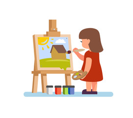 artist girl painting