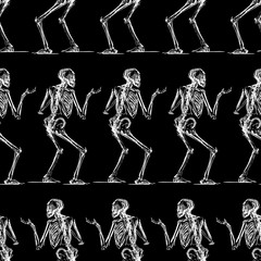 Pattern of the sketches of striiding skeletons