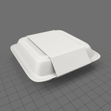 Large takeout box with sleeve