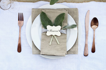 Reserved Place Setting