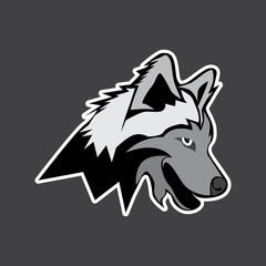 wolf vector logo